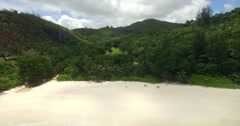 Panorama of beautiful beach in the Seychelles Stock Footage
