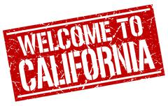 Welcome to California stamp Stock Illustration