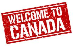 Welcome to Canada stamp Stock Illustration