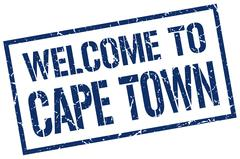Welcome to Cape Town stamp Stock Illustration