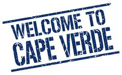 Welcome to Cape Verde stamp Stock Illustration