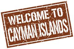 Welcome to Cayman Islands stamp Stock Illustration
