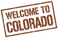 Welcome to Colorado stamp Stock Illustration