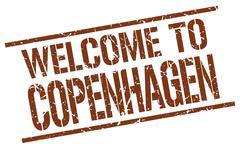 Welcome to Copenhagen stamp Stock Illustration