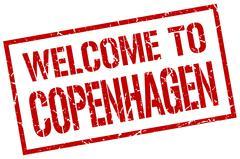 Welcome to Copenhagen stamp Stock Illustration