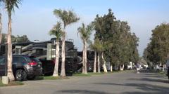 RV camp Ventura California Stock Footage