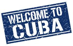 Welcome to Cuba stamp Stock Illustration