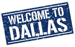 Welcome to Dallas stamp Stock Illustration