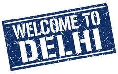 Welcome to Delhi stamp Stock Illustration