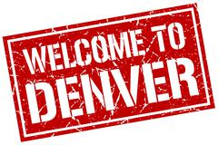 Welcome to Denver stamp Piirros