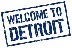 Welcome to Detroit stamp Piirros