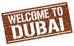 Welcome to Dubai stamp Piirros