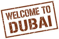 Welcome to Dubai stamp Piirros