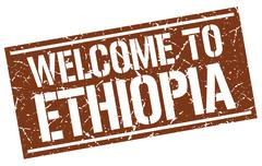 Welcome to Ethiopia stamp Stock Illustration