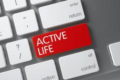 Active Life Keypad. 3D Illustration Stock Illustration