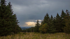 4k Sösetal upcoming thunderstorm heavenly clouds time-lapse Harz mountains Stock Footage