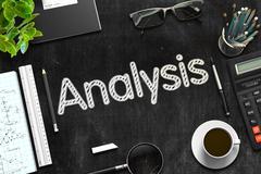 Analysis Handwritten on Black Chalkboard. 3D Rendering Stock Illustration