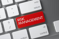 Risk Management Keypad. 3D Rendering Stock Illustration