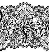 Seamless lace border Stock Illustration