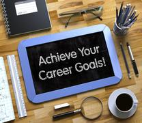 Small Chalkboard with Achieve Your Career Goals Stock Illustration