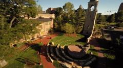 Denver CO Aerial, University of Denver Stock Footage