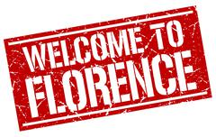 Welcome to Florence stamp Stock Illustration