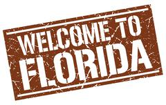 Welcome to Florida stamp Stock Illustration