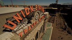 Denver CO Aerial, Union Station Stock Footage