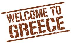 Welcome to Greece stamp Piirros