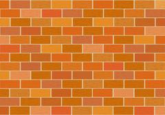 A fragment of red brick wall Stock Illustration