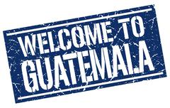 Welcome to Guatemala stamp Stock Illustration