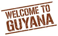 Welcome to Guyana stamp Stock Illustration