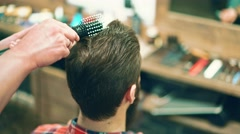 Customer in a hairdressing salon Stock Footage
