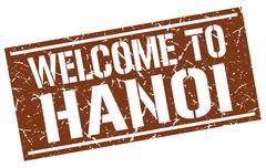 Welcome to Hanoi stamp Stock Illustration