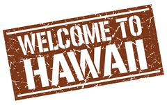 Welcome to Hawaii stamp Stock Illustration