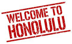 Welcome to Honolulu stamp Piirros
