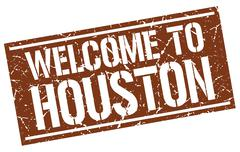 Welcome to Houston stamp Stock Illustration