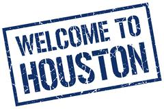 Welcome to Houston stamp Piirros