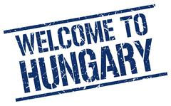 Welcome to Hungary stamp Stock Illustration