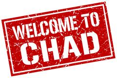 Welcome to Chad stamp Stock Illustration