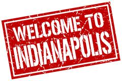 Welcome to Indianapolis stamp Piirros