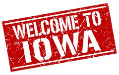 Welcome to Iowa stamp Piirros