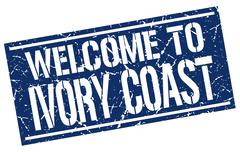Welcome to Ivory Coast stamp Stock Illustration