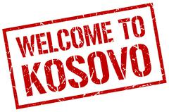 Welcome to Kosovo stamp Stock Illustration