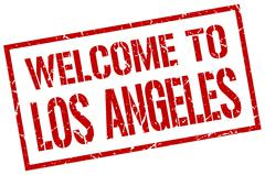Welcome to Los Angeles stamp Stock Illustration