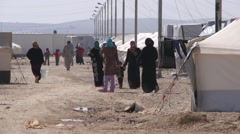 Syrian Refugees in A camp Stock Footage