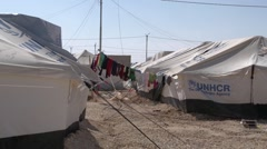 Tents in Zaatrai Camp Stock Footage