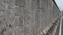 Berlin Wall in Berlin Germany Stock Footage