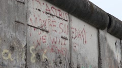 Berlin Wall in Berlin Germany Stock Footage