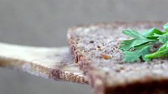 Close up of bread Stock Footage